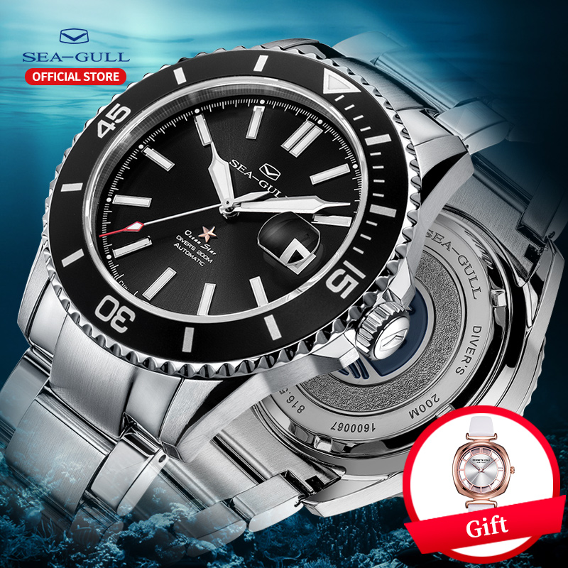 Seagull Men's Watch Upgraded Ceramic Ocean Star 200 Meters Waterproof 2019 New Fashion Automatic Mechanical Watch 416.22.1201