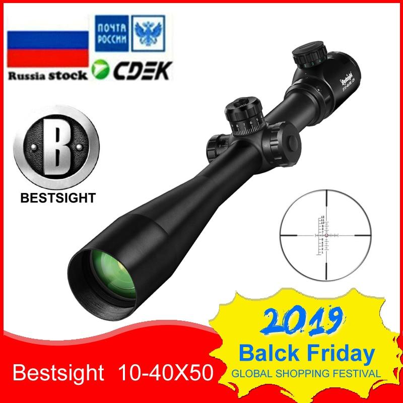 10-40x50 Long Range Riflescope Side Wheel Parallax Optic Sight Rifle Scope Hunting Scopes Sniper Luneta Para Rifle