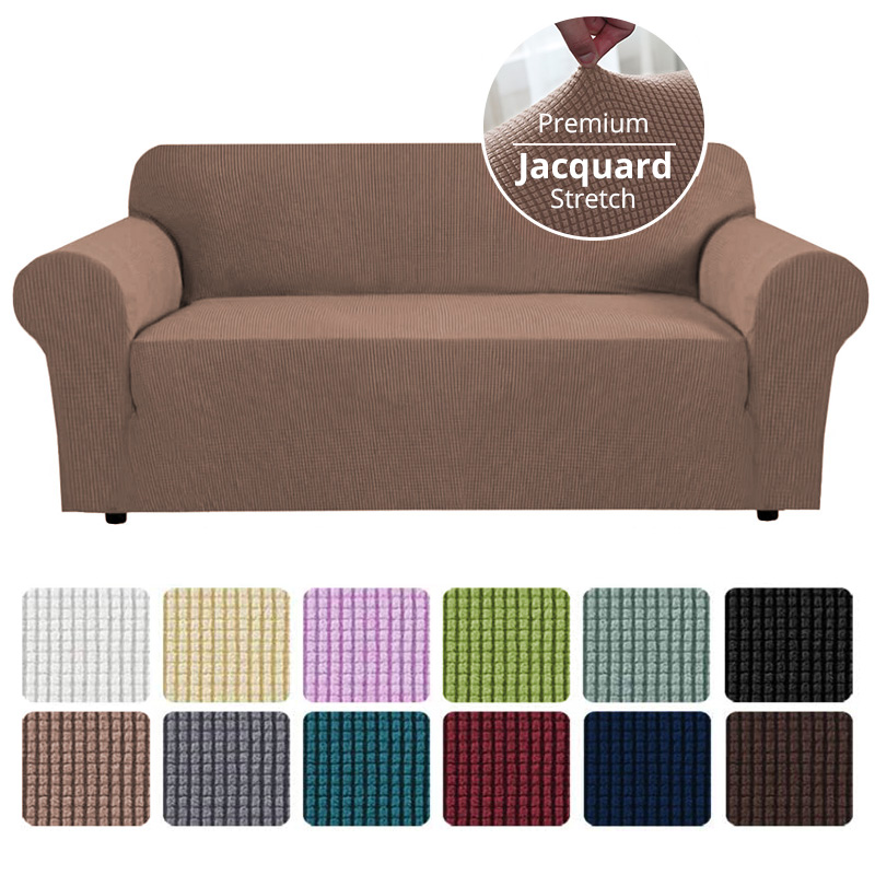 Jacquard Stretch Sofa Cover for Living Room Elastic Sofa Slipcover Sectional Couch Cover Furniture Protector 1/2/3/4 Seater 1