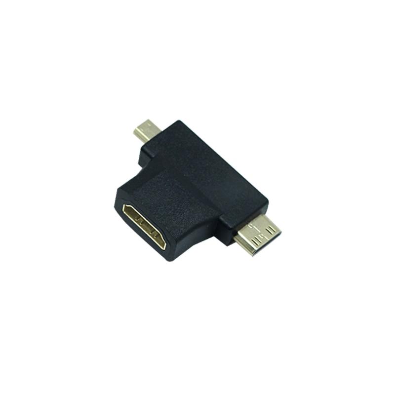 Micro Mini HDMI to HDMI Adapter 1080P 3 in 1 Male to Female Cable Extension Connector Gold Plated Mini Micro HDMI Converter