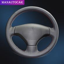 Автомобильная Оплетка на рулевое колесо Крышка для Peugeot 206 2007 2009 Peugeot 207 Citroen C2 авто Стайлинг чехлы на рулевое колесо