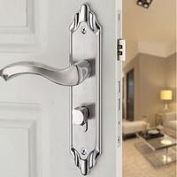 Stainless steel bedroom door lock indoor room solid wood door lock Modern handle lock toilet bathroom door lock