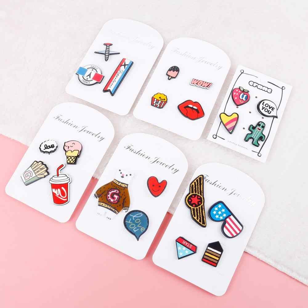 (1-4 sztuk/partia) kształty rysunek ikony na Pin Kawaii ikona odznaka na plecaku odznaki na ubrania akrylowe odznaki dla dzieci