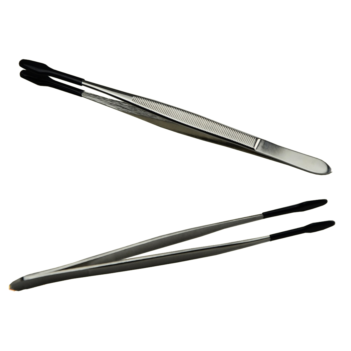 XNEMON Stainless Steel Tweezer For Jewelry/Coin Stamp Collection Handling Tools Collectibles Industrial Tweezers Hand Tools 15cm