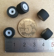 4Pieces/Lot 10.5x7.2x2mm Recorder Amplifiers Pinch Roller Deck Audio Pressure Pulley