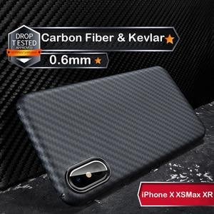 Image 1 - Custodia protettiva di lusso in vera fibra di carbonio 3D Kevlar 0.6mm sottile sottile per fotocamera sportiva custodia protettiva per iPhone X XS XR XSMAX
