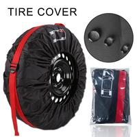 4PCS Car Wheel Bag Waterproof Sun Protection Tire Cover Tote Protector With Handle Elastic Rope