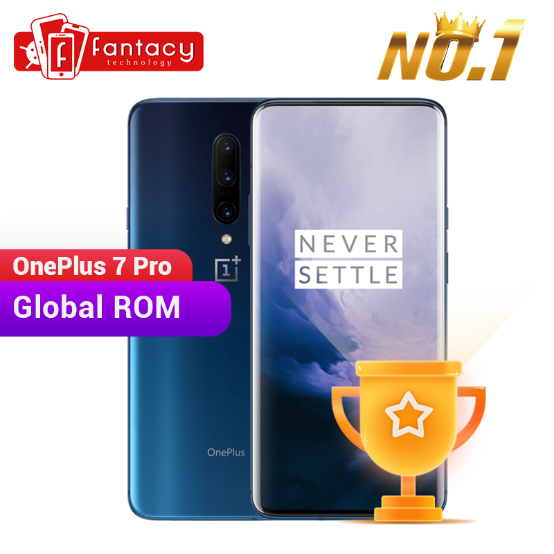 Global ROM OnePlus 7 Pro 6GB 128GB Smartphone 48MP Camera Snapdragon 855 6.67 Inch Fluid AMOLED Display Fingerprint UFS 3.0 NFC