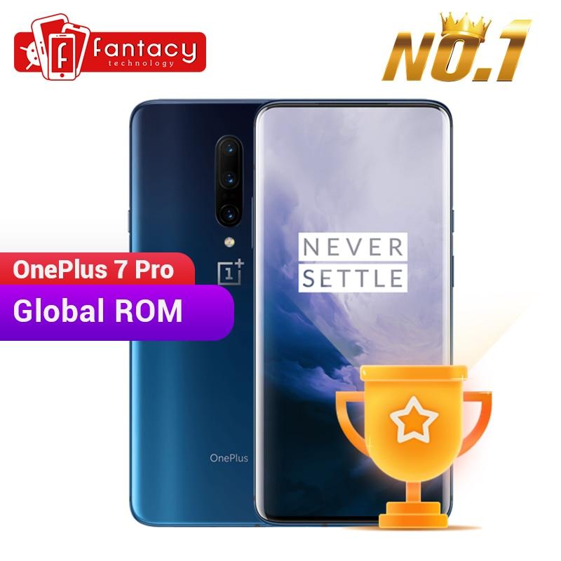 Global rom oneplus 7 pro 8 gb 256 gb smartphone 48mp câmera snapdragon 855 6.67 Polegada fluido amoled exibir impressão digital ufs 3.0 nfc