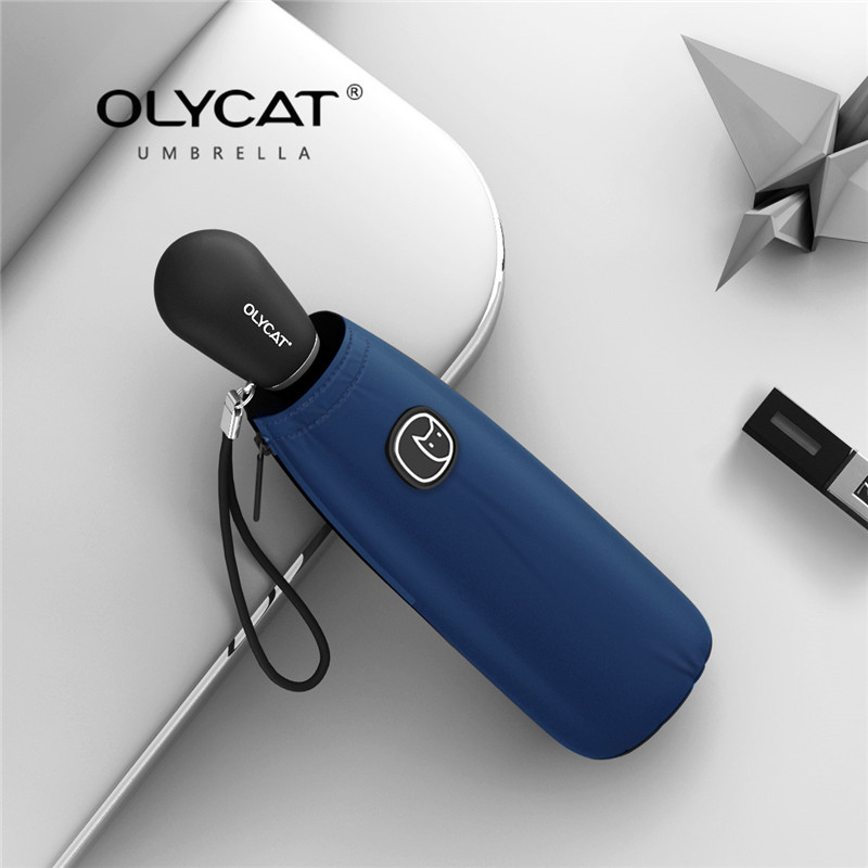 OLYCAT Five folding uv - resistant windproof colorful pocket mini children's and women's traveling umbrellas