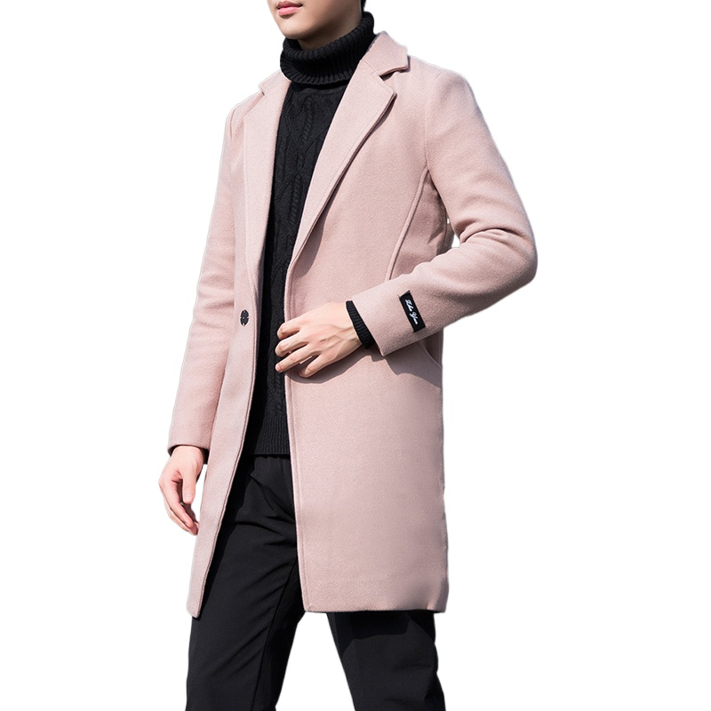 Men's Loose Solid Color Tooling Long Section Trench Jacket / Male Army Green Spring Autumn New Plus Size Windbreaker Coat