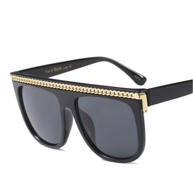 Emosnia Unisex Square Modis Sunglasses Steampunk Oculos De Sol 2019 Luxury Women Brand Designer Punk Sun Glasses Chain Optional