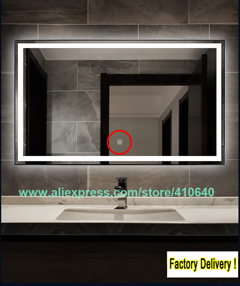 Light Mirror Touch Switch Bathroom Smart Mirror Switch LED Touch Controller On Mirror Surface Hotselling For Hotel
