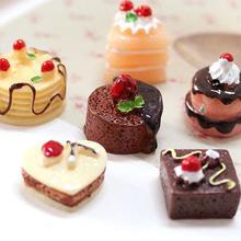 3 шт. моделирование шоколадные торты миниатюрная фигурка еды кукольный домик аксессуары украшают ваш милый кукольный домик добавить немного живой aure