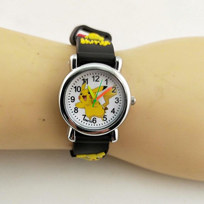 Fashion Cartoon Pikachu Children's Watches Girl And Boy Kids Watch Leather Strap Children Watches Zegarek Dla Dzieci Relojes