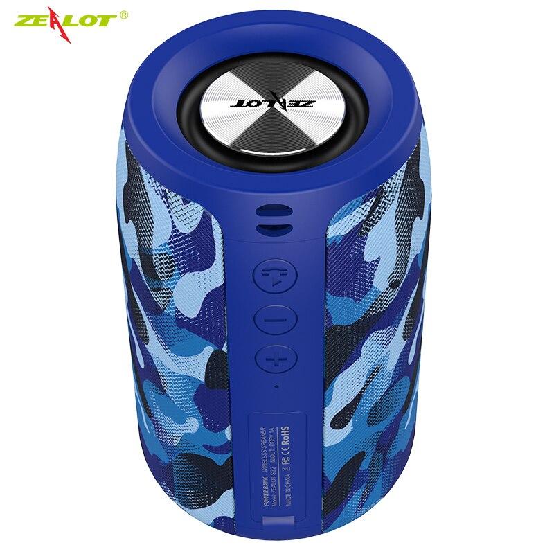 Haut-parleur Bluetooth sans fil zélot S32 Mini haut-parleur de caisson de basses HIFI Portable avec Support de colonne radio fm carte TF, lecteur de stylo USB