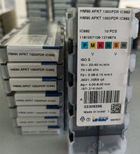 Iscar HM90-APKT1003PDR-ic882 inserções de carboneto 10 peças para m s