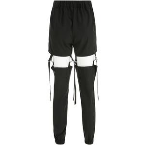 Image 5 - Darlingaga היפ הופ גבוהה מותניים מכנסיים מטען נשים רצים רחוב סגנון מכנסיים אבזם מסלול מכנסיים מתכוונן חלול החוצה Pantalon