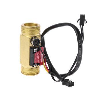 G3 4 #8222 czujnik przepływu przełącznik przepływu wody z wykrywania temperatury dla turbiny cieczy czujnik miedź powłoki przepływu w hali metrów tanie i dobre opinie OOTDTY Hydraulika N84C9FF100066 join 3 4 9M52 Brass
