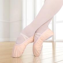 туфли для та Girls Ballet Dance Shoes Canvas Soft Sole Ballet Slippers Children Practise Ballerina Shoes Woman Dance Shoes