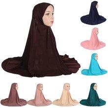Copertura completa Amira Lunga Sciarpa Donne Musulmane Hijab Amira Islamico Khimar Testa In Testa Wrap One Size Niquabs Preghiera Ramadan Cappello caps