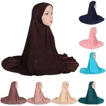 Full Cover Amira Long Scarf Muslim Women Hijab Amira Islamic Khimar Head Overhead Wrap One Size Niquabs Prayer Ramadan Hat Caps