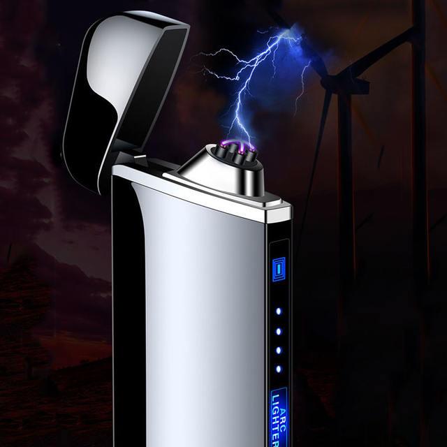 USB Electric Lighter Fingerprint Touch Fire Plasma