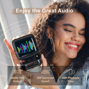 Image 2 - Divoom Ditoo Retro Pixel art Bluetooth altoparlante portatile sveglia tabellone LED fai da te, decorazione della luce della casa regalo di capodanno