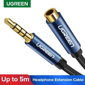 Ugreen jack 3.5mm cabo de extensão áudio para huawei p20 lite estéreo 3.5mm jack aux cabo para fones de ouvido xiaomi redmi 5 plus pc
