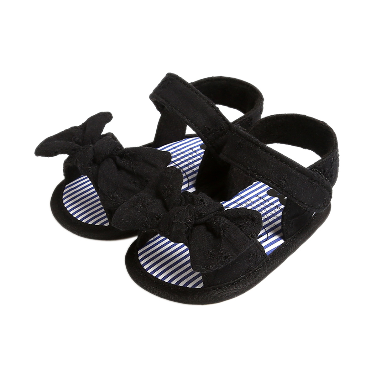 2020 Baby Summer Shoes Sandals Baby Girls Infant Soft Crib Shoes Cute Shoes Bowknot Solid Candy Color Ruffled Sandals 0-18M