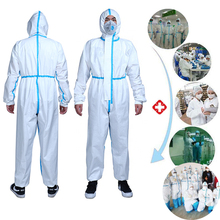 Reusable Protective Clothes Overall Coveralls Anti bacterial Work Medical Suit
