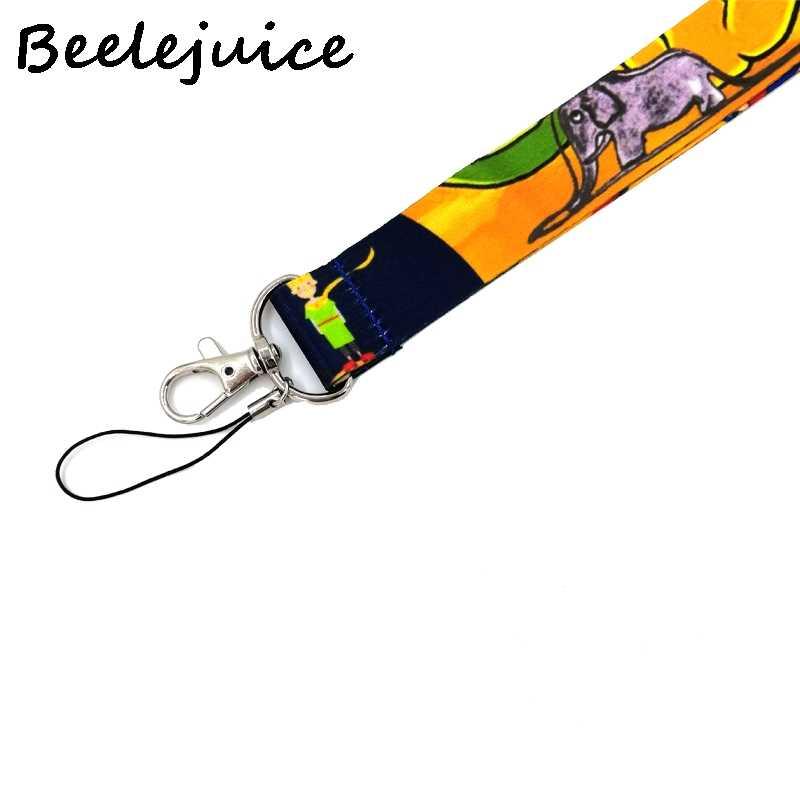 Mały książę kreskówka smycz na szyje kółko do kluczy pasek do telefonu komórkowego uchwyt na identyfikator liny breloczek breloki akcesoria cosplay