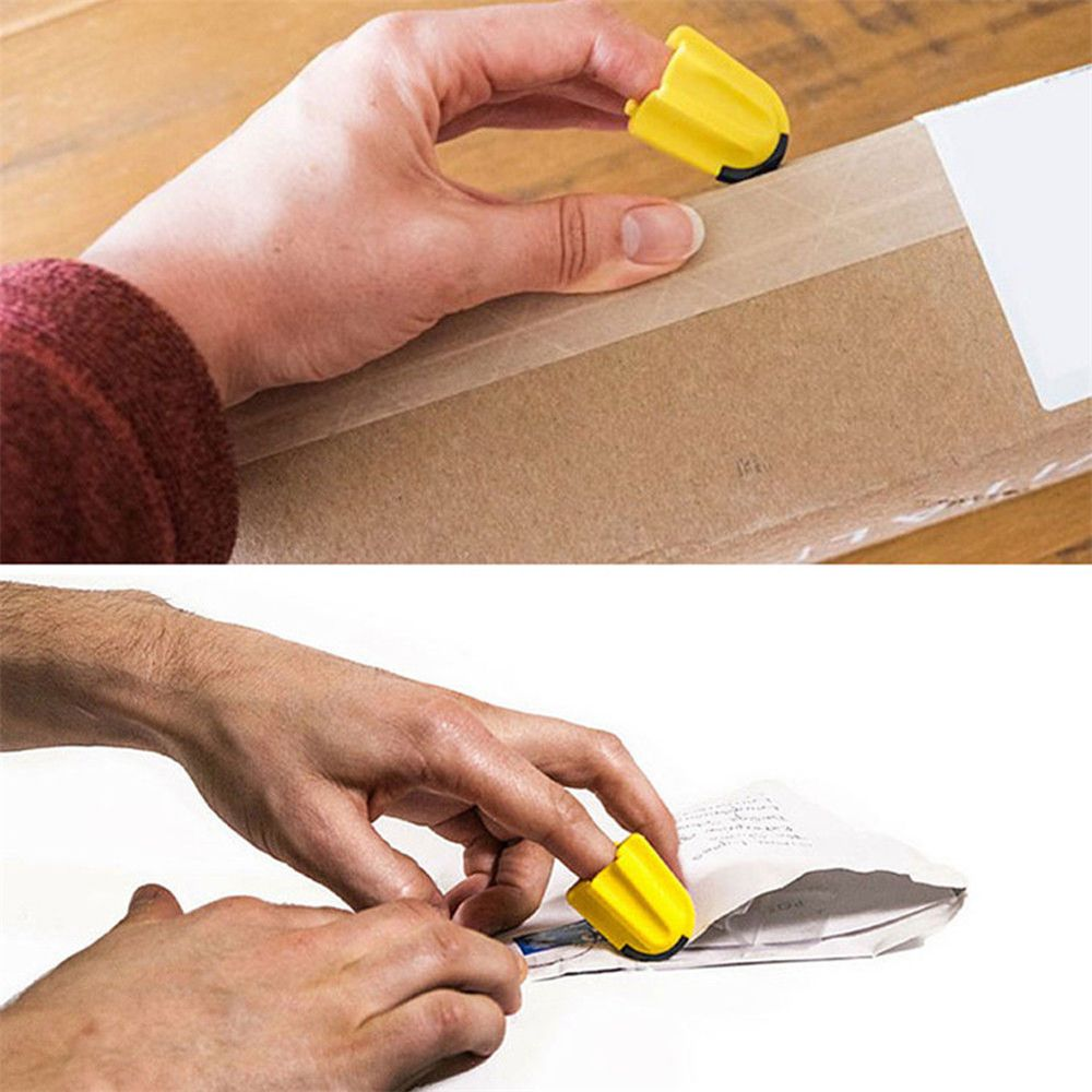 1PC Plastic Mini Letter Opener Tool Finger Cutter Utility Knife Safety Home Office Package Letter Parcel Opener Safety Office
