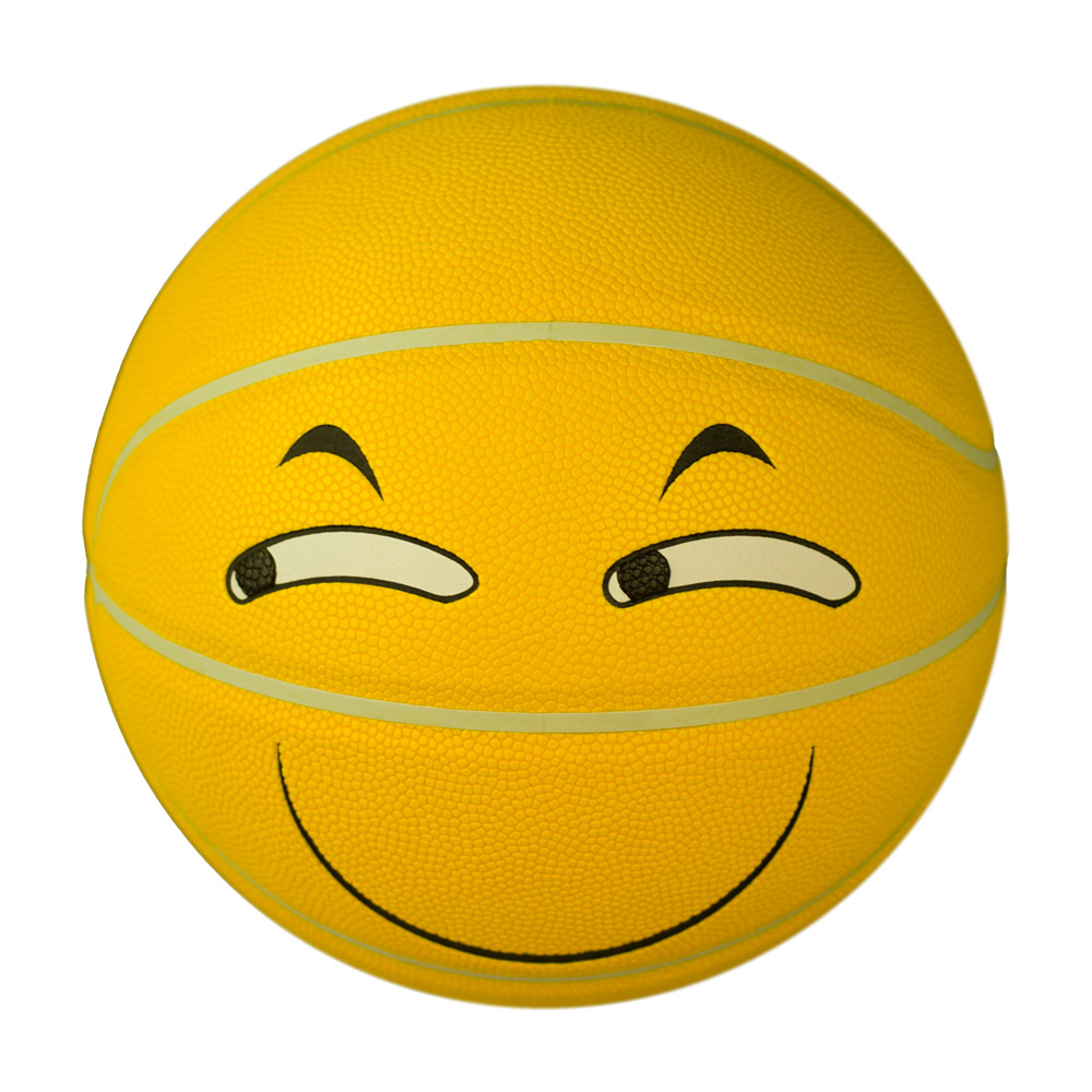 Psyche Moisture Absorption Anti-slip PU Basketball Kindergarten Basketball Customizable No. 5 Students Smiley Basketball