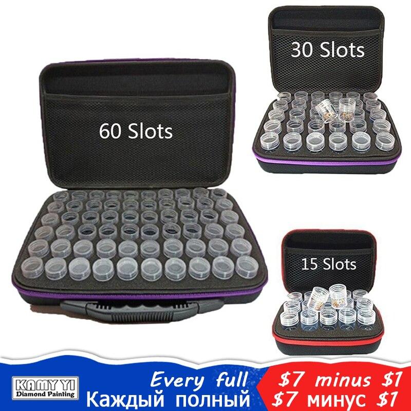 Pittura Diamante Accessori di Stoccaggio Tallone Bottiglia di Diamante Del Ricamo Multi-Funzione Murale Tools Kit 15/30/60 Slot borsa