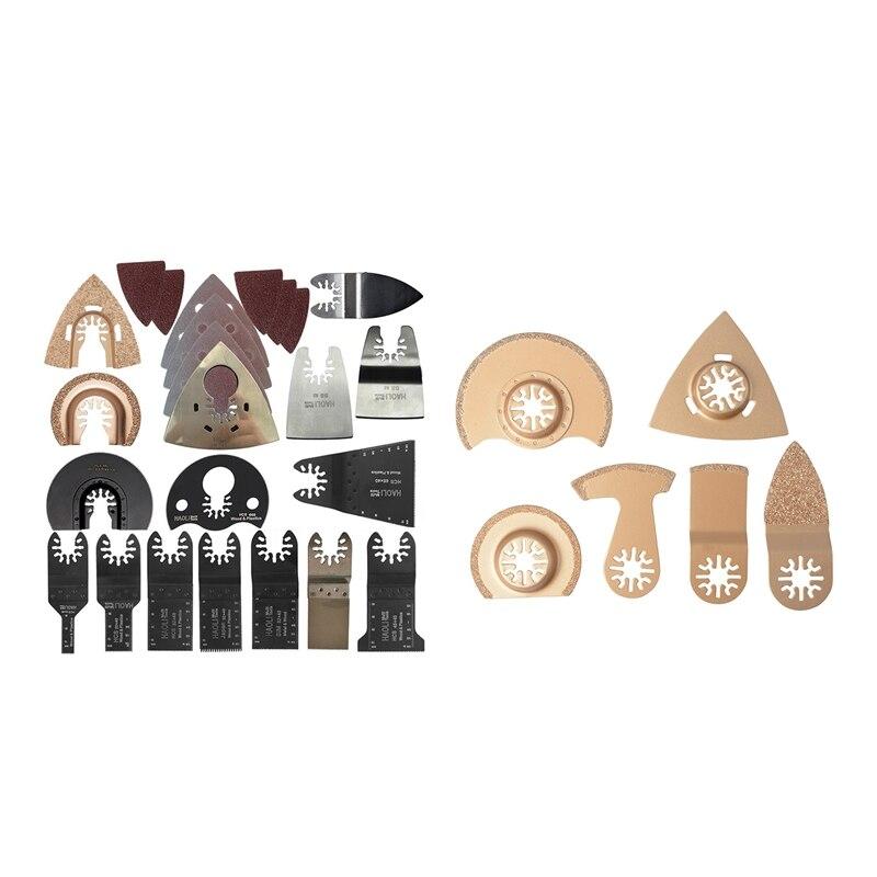 6Pcs Carbide Oscillating Tool Saw Blade Accessories For Renovator Power Tool For Dremel Small Concrete Cutting & 66 Pcs Oscillat