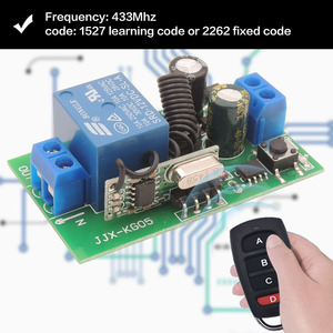 Image 4 - 433 Mhz Rf Afstandsbediening Ac 220V 10A 1CH Relais Ontvanger Voor Universele Garage/Deur/Light/led/Boer/Motor/Signaaloverdracht