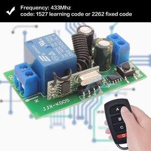Image 4 - 433 МГц rf пульт дистанционного управления AC 220 В 10A 1CH релейный приемник для универсального гаража/двери/светильник/светодиодный/Fanner/двигатель/передача сигнала
