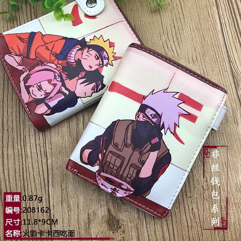 Аниме Наруто Shippuden Hatake Kakashi короткий кошелек из искусственной кожи Uchiha Sasuke портмоне|Кошельки|   | АлиЭкспресс