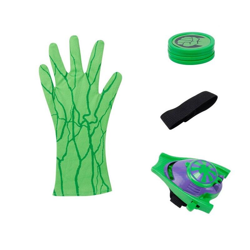 Новинка года, цельные Аниме фигурки, ПВХ, супер герои, Zings, косплей, перчатки паука, Laucher, наручные пусковые устройства, детские игрушки для мальчиков - Цвет: Set 3