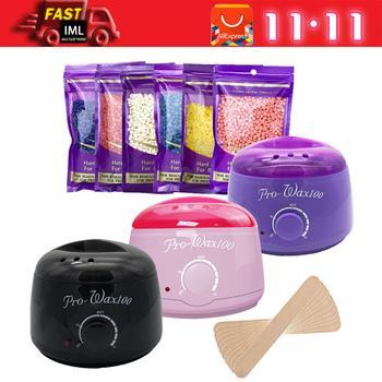 Kemei нагреватель для парафинового воска, крем-нагреватель для удаления волос, 100 г, восковые бобы, восковая машина, нагреватель, профессиональ...