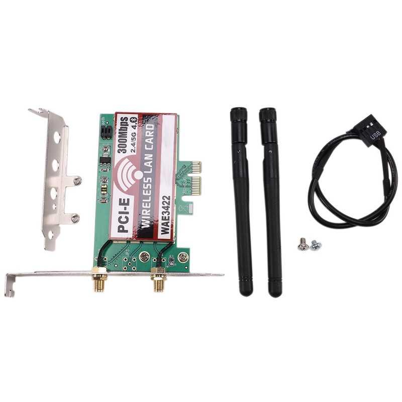 Model:WAE3422 Bluetooth 4.0 2.4G//5G PCI-e Network Wireless LAN Card WLAN WiFi 300Mbps for PC