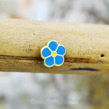 Groothandel Mini Bloem Vrijmetselaars Reversspeldjes Badge Mason Vrijmetselaar Vergeet Me Niet