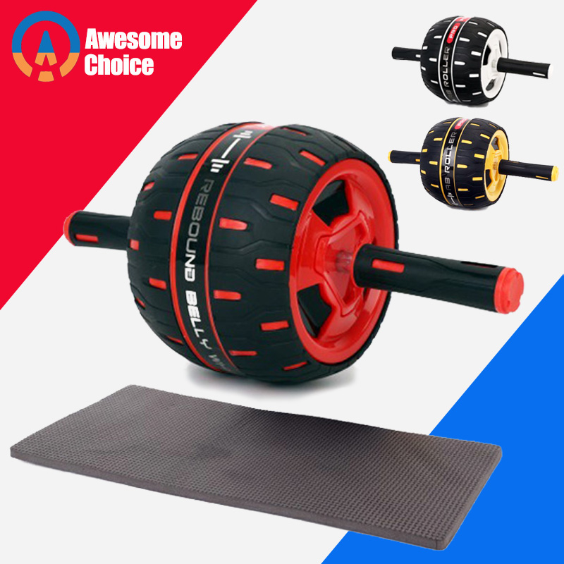 Heavy Duty Abdominal Wheel No Noise Muscle Exercise Equipment Home Fitness Power Wheel Ab Roller Gym Roller Training Free Mat