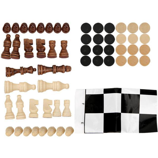 32 pièces échecs pliable en bois jeu d'échecs jeux de voyage échecs Parent enfant Interaction Puzzle jouet cadeau enfants jeux d'échecs 1
