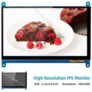 Image 2 - 7 inch Raspberry Pi 4 Model B 3B LCD Display Touch Screen 1024*600 800*480 HDMI TFT Optional Holder for Nvidia Jetson Nano PC