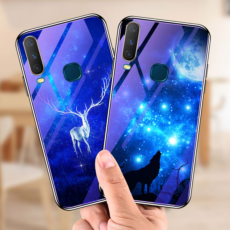 For <font><b>VIVO</b></font> Y17 <font><b>Y3</b></font> U3X <font><b>Case</b></font> Cover Youth Fashion Glossy Tempered Glassft Silicone Frame Covers For <font><b>vivo</b></font> Y12 Y15 U10 Y11 2019 Coque image