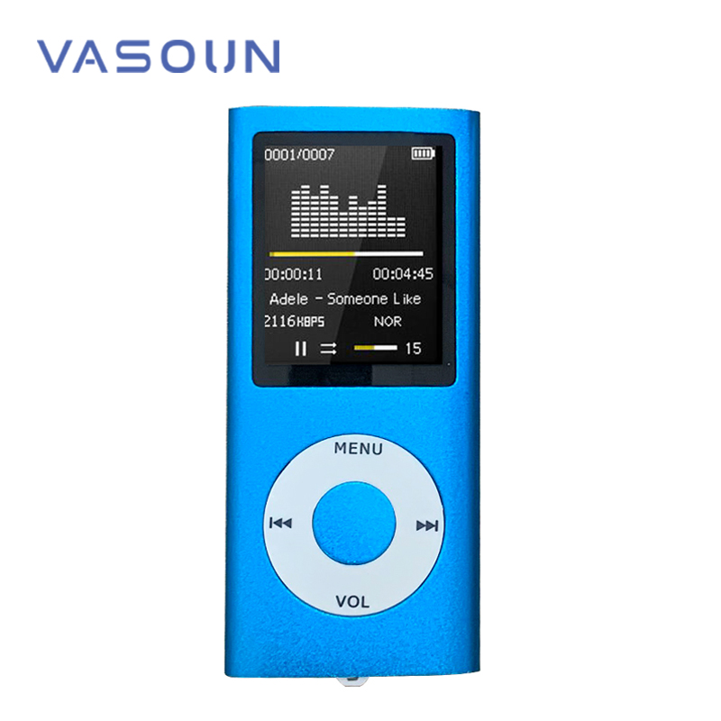 VASOUN 1.8 inch Mp4 Player 8GB Music Playing FM Radio Video Player E-book Player MP4 Built-in Memory Multi-language Supported image