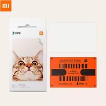 Xiaomi принтер фотобумага мини портативный для кармана «сделай сам» принтер стикер 20 шт/50 шт печать фотобумаги