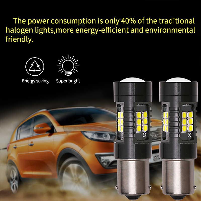 Ampoule Canbus 1156 BA15S 1157 P21/5W BAY15D | 1 pièce, phares de stationnement automatique, feu de marche arrière 12V, blanc, rouge